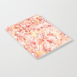 LILY LUST Peach Painterly Floral Notebook