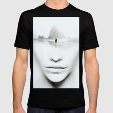 in thoughts Black MEDIUM Mens Fitted Tee