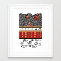 ethnic Framed Art Prints featuring ETHNIC by CaritoMo