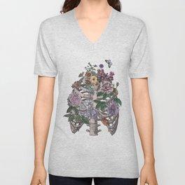 flowering ribs Unisex V-Neck