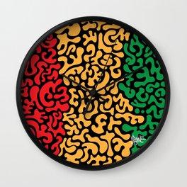Social Networking RYGB Wall Clock