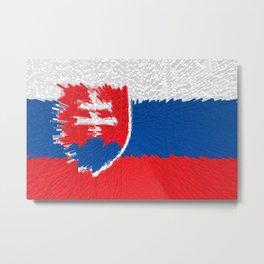 Extruded flag of Slovakia Metal Print