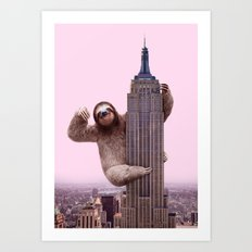 KING SLOTH Art Print