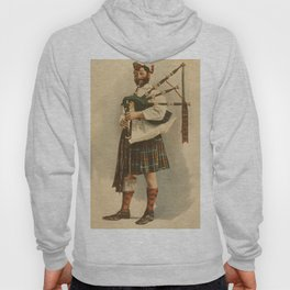 Vintage Illustration of a Scottish Bagpiper (1898) Hoody
