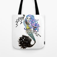 monster high Tote Bags featuring Sirena Von Boo - Monster High by Amana HB