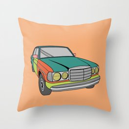 Rainbow Benz Throw Pillow