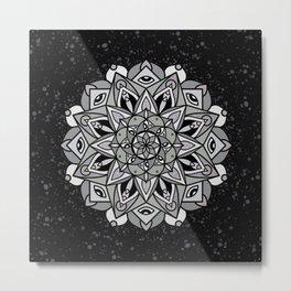 Dark Mandala Metal Print
