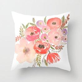 Flower Profusion Throw Pillow