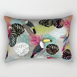 Tropical Birds (Color 2 - Bold) Rectangular Pillow