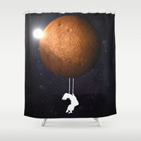 bruno mars Shower Curtains featuring Mars by Cs025