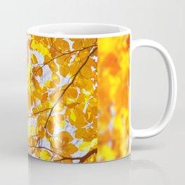 Autumn beech Fagus foliage yellow Coffee Mug