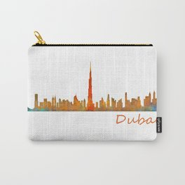 Dubai, emirates, City Cityscape Skyline watercolor art v1 Carry-All Pouch