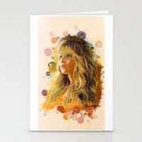 jennifer lawrence Stationery Cards featuring Jennifer Lawrence II by Rene Alberto