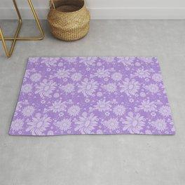 Lavender Wildflower Pattern Rug