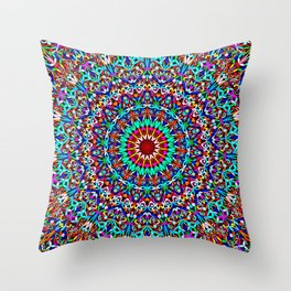 Colorful Life Garden Mandala Throw Pillow