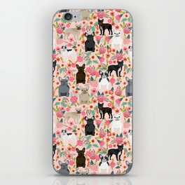 French Bulldog must have florals gifts dog breed pet lover frenchies forever iPhone Skin
