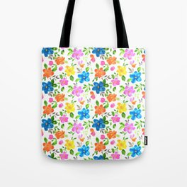 watercolor spring flower pattern Tote Bag