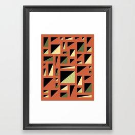 Half Triangle Orange Framed Art Print