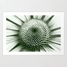 Black and White Flower Core Art Print