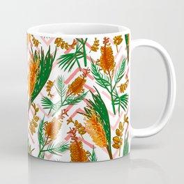 Beautiful Australian Native Floral Illustrations - Banksia Flowers Coffee Mug