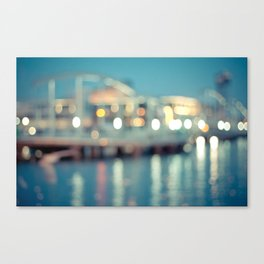 Barcelona: Port Vell with Bokeh Canvas Print