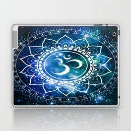 Om Mandala : Blue Green Galaxy Laptop & iPad Skin
