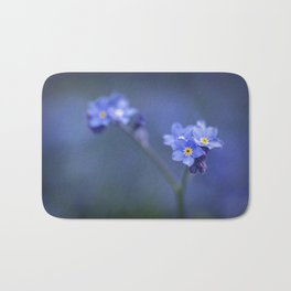 Myosotis Scorpioides - Forget Me Not - Blue Flower Bath Mat