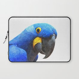 Blue Parrot Portrait Laptop Sleeve