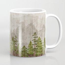 Mountain Range Woodland Forest Coffee Mug