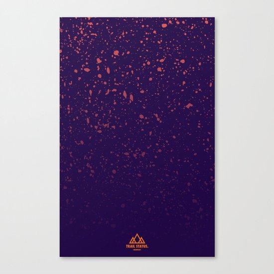 Trail Status / Purple Canvas Print