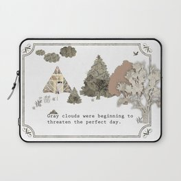 Gray Clouds Laptop Sleeve