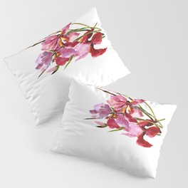 Purple Pink Iris Flowers Pillow Sham