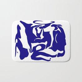 face3 blue Bath Mat