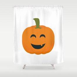 Funny Halloween pumpkin Shower Curtain