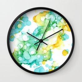 Green Parrot Wall Clock