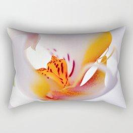 Orhid white macro 244 Rectangular Pillow