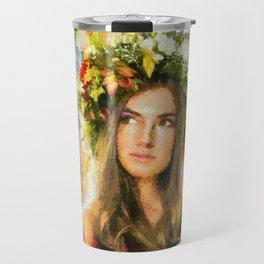 Beautiful girl Travel Mug