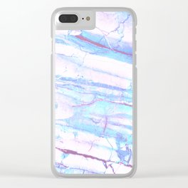 Pastel Marble with Blue Green Purple Clear iPhone Case