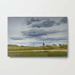 Landscape with the DeZwaan Dutch Windmill on Windmill Island in Holland Michigan Metal Print