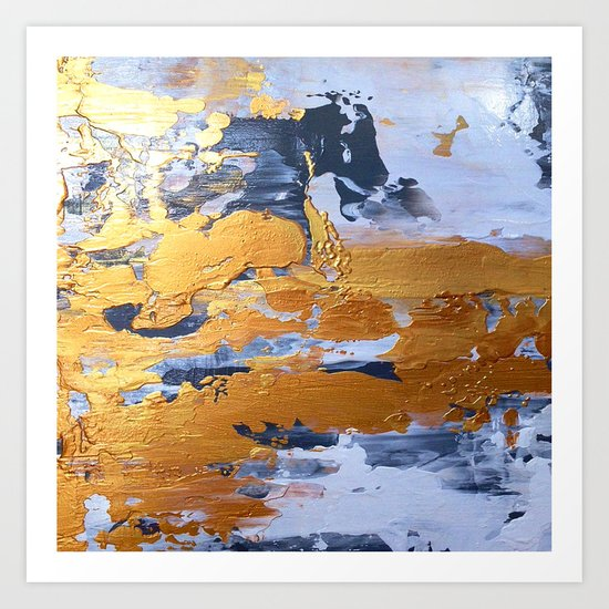 Gold in the ice Art Print