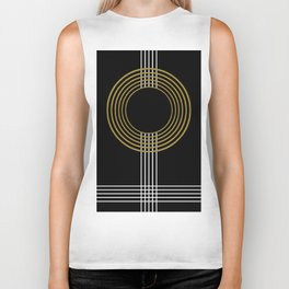 GUITAR IN ABSTRACT (geometric art deco) Biker Tank