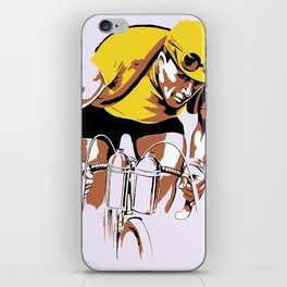 The yellow jersey (retro style cycling) iPhone Skin