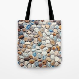 Pebble Rock Flooring V Tote Bag