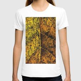 rotten yellow leaf texture T-shirt