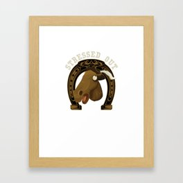 Horse Stressed Out Framed Art Print