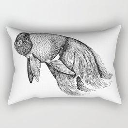 Vintage Golden Fish Rectangular Pillow