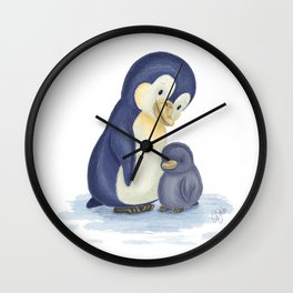 Mama loves you, little one - Penguins Wall Clock