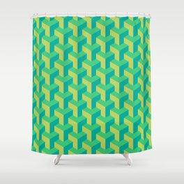 Woven Greens Shower Curtain