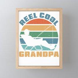 Real Cool Grandpa Fishing Framed Mini Art Print