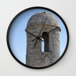 Corner Tower in an Old Fort Wall Clock